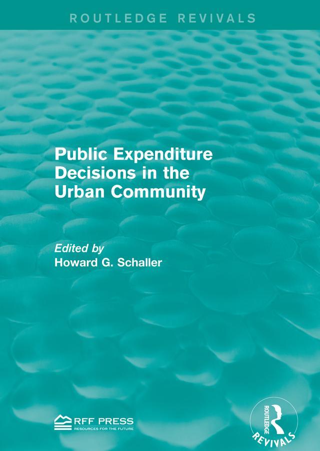 Public Expenditure Decisions in the Urban Commu...