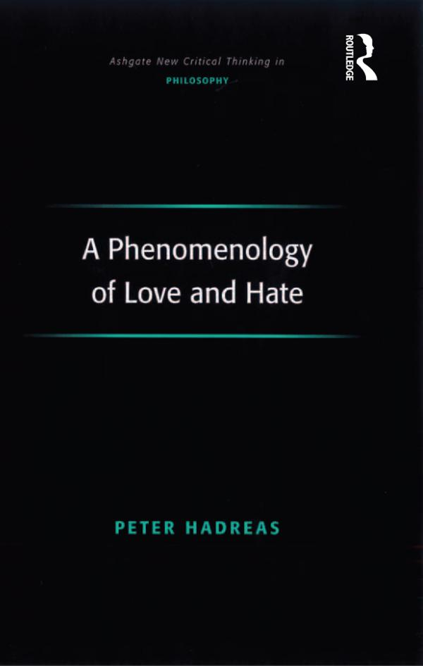 A Phenomenology of Love and Hate als eBook epub