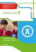 Green Line 3. Workbook Extra mit Audio-CDs für Einsteiger in Klasse 7