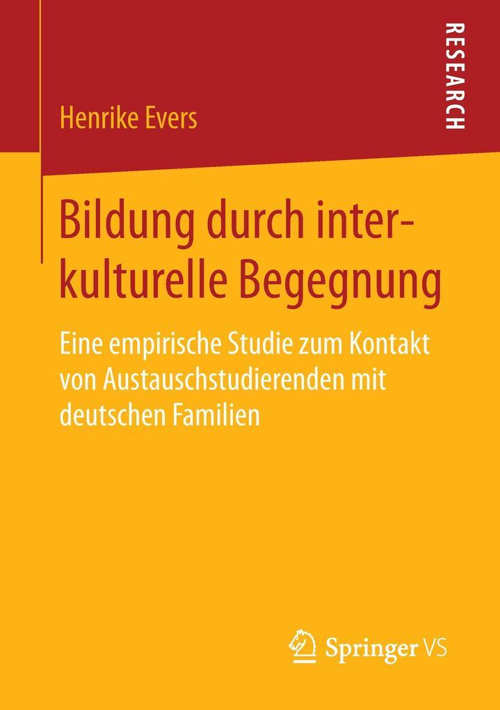 Bildung durch interkulturelle Begegnung als Buc...