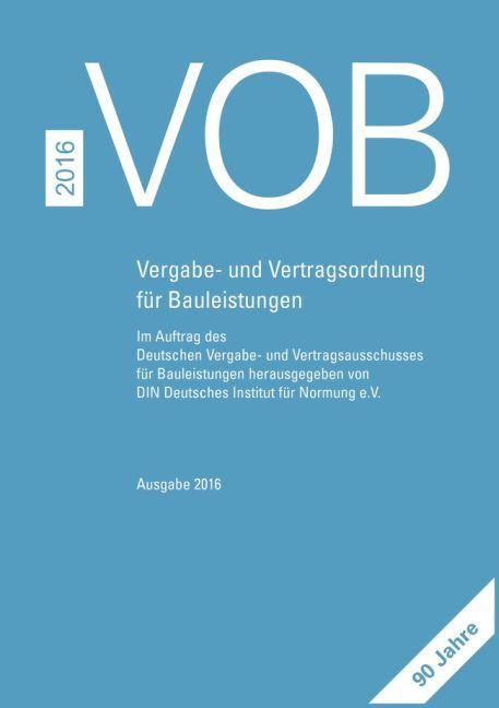 VOB 2016 Gesamtausgabe als Buch