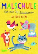Malschule: Set mit 70 Schablonen: Lustige Tiere
