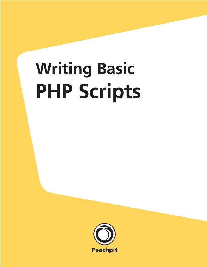 Writing Basic PHP Scripts als eBook Download vo...