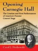 Opening Carnegie Hall