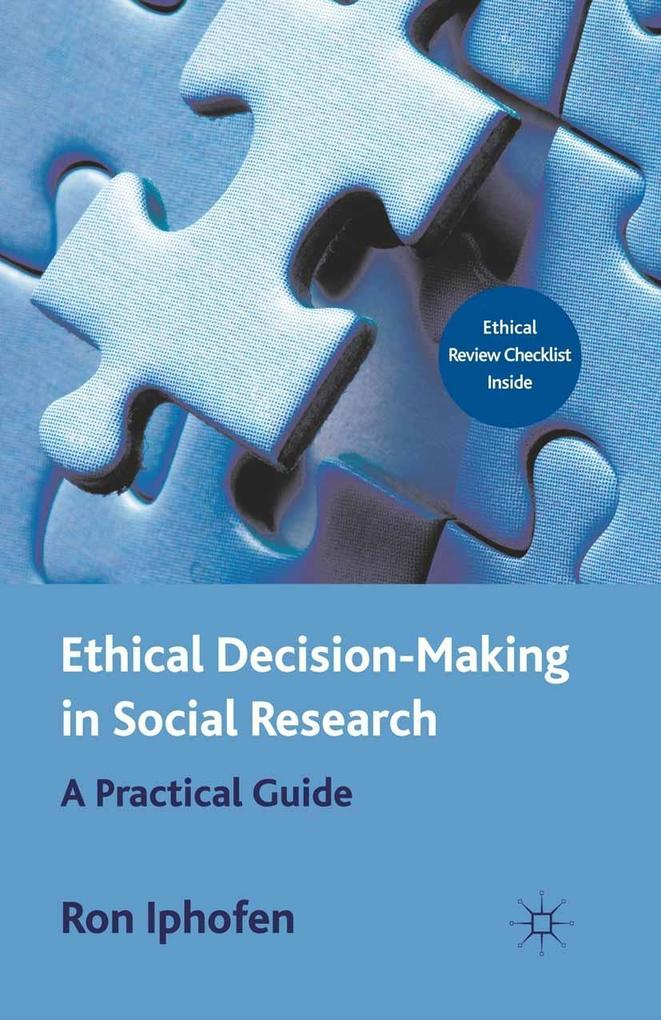 Ethical Decision Making in Social Research als ...