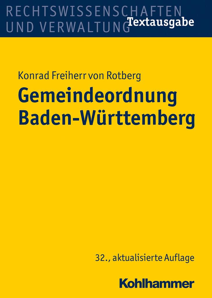 Gemeindeordnung Baden-Württemberg als eBook Dow...