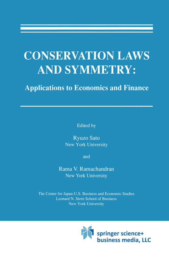 Conservation Laws and Symmetry: Applications to Economics and Finance als Buch