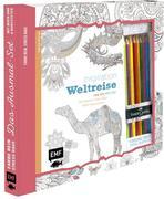 Kreativ-Set Farbe rein, Stress raus: Inspiration Weltreise - 50 Motive aus aller Welt kolorieren