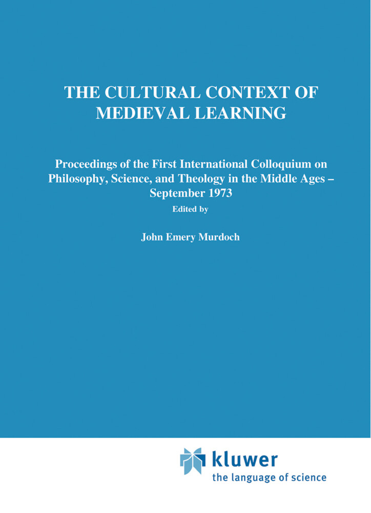 The Cultural Context of Medieval Learning als Buch