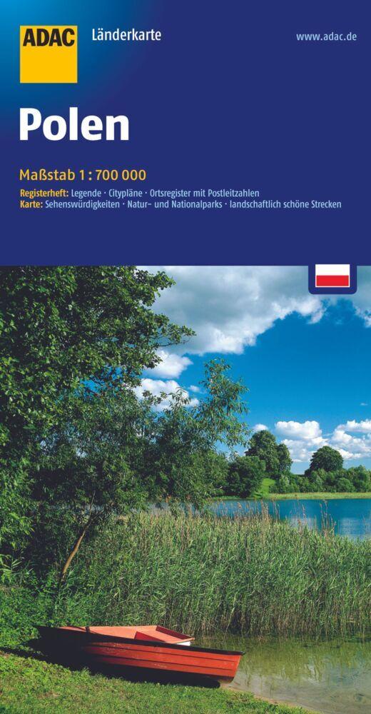 ADAC Länderkarte Polen 1 : 700 000 als Blätter und Karten