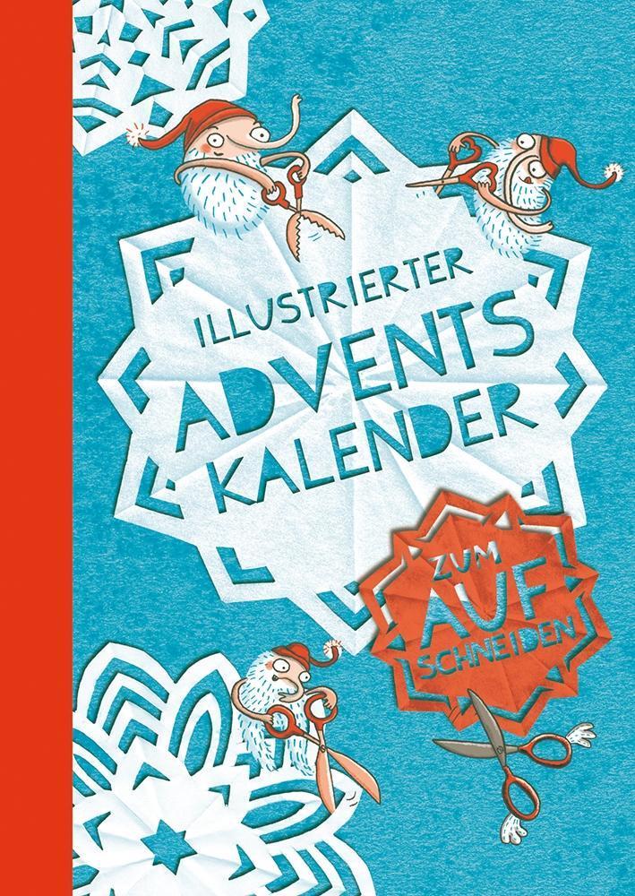 Illustrierter Adventskalender als Kalender