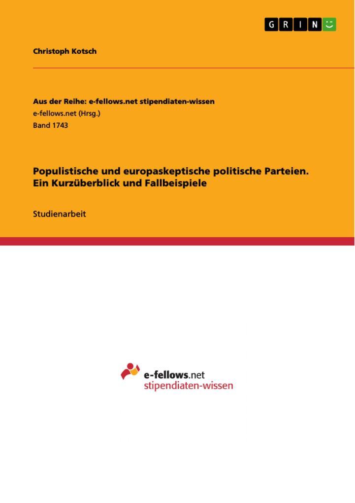 Populistische und europaskeptische politische P...