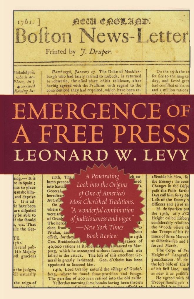 Emergence of a Free Press als Taschenbuch