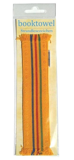 Booktowel - Bookmark - yellow stripes
