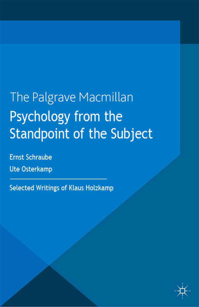 Psychology from the Standpoint of the Subject a...
