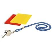 Hudora 76110 - Schiedsrichterset, Pfeife rote/gelbe Karte, 3-teilig