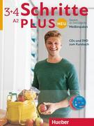 Schritte plus Neu 3+4. Audio-CDs und 1 DVD zum Kursbuch. Medienpaket