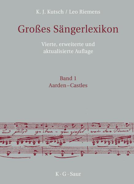 Großes Sängerlexikon als Buch