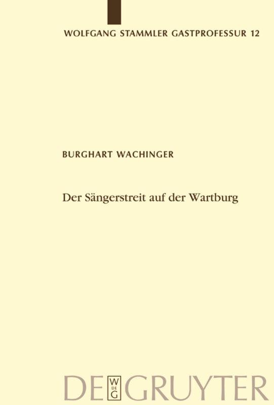 Der Sängerstreit auf der Wartburg als Buch