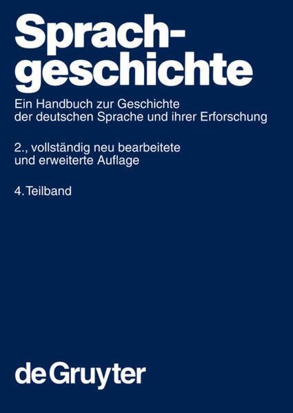 Sprachgeschichte. 4. Teilband als Buch
