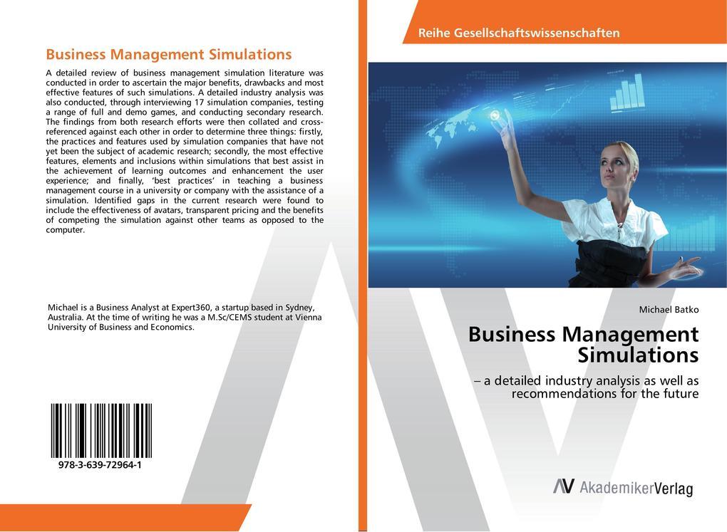 Business Management Simulations als Buch von Mi...