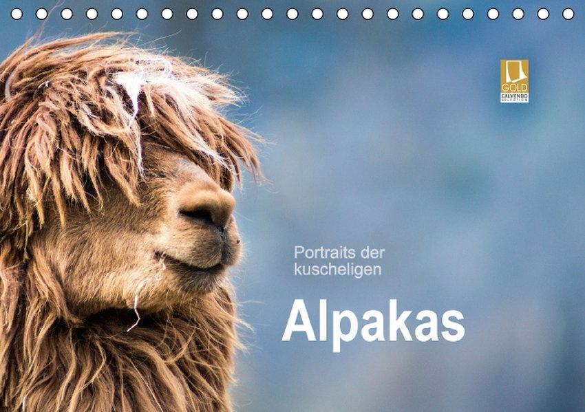 Portraits der kuscheligen Alpakas (Tischkalender 2017 DIN A5 quer) als Kalender
