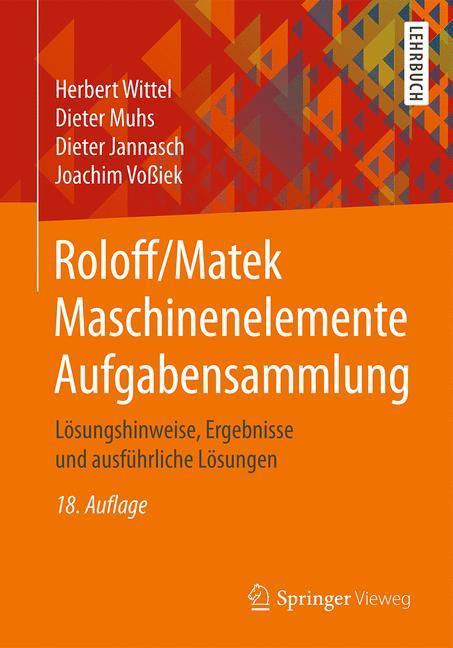 Roloff/Matek Maschinenelemente Aufgabensammlung als Buch