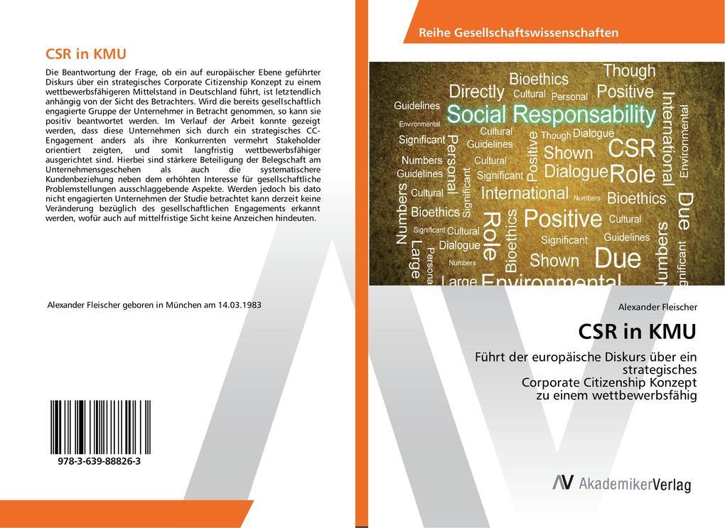 CSR in KMU als Buch von Alexander Fleischer