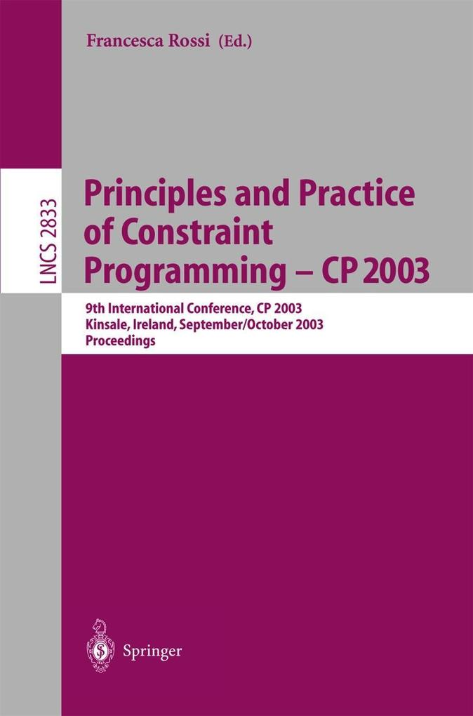 Principles and Practice of Constraint Programming - CP 2003 als Buch