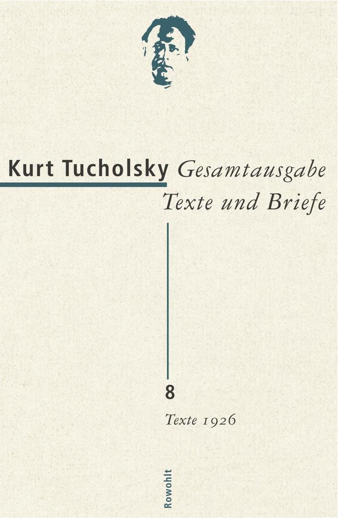 Gesamtausgabe 8.Texte 1926 als Buch
