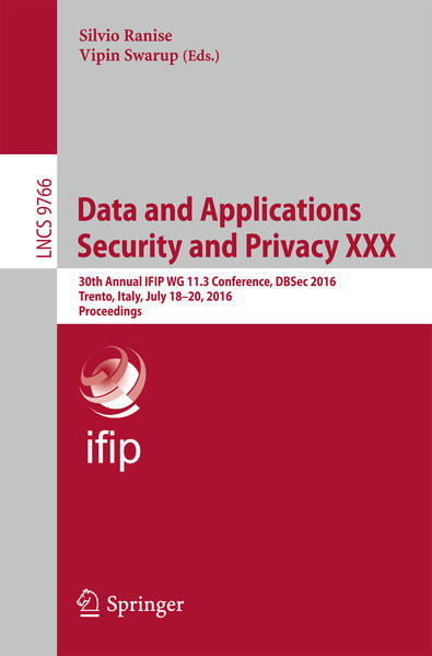 Data and Applications Security and Privacy XXX ...