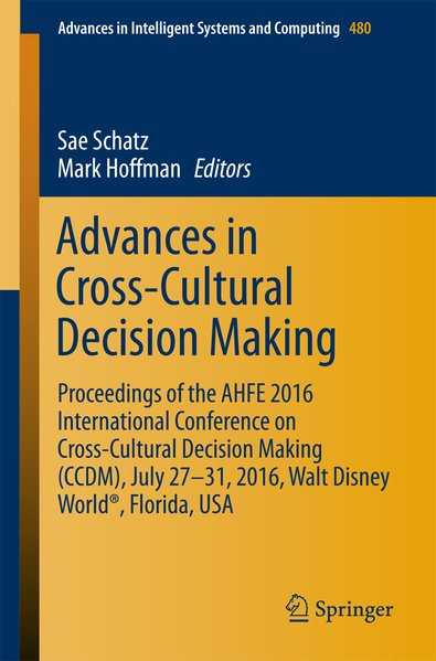 Advances in Cross-Cultural Decision Making als ...