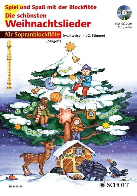 Die schönsten Weihnachtslieder für 1-2 Sopranblockflöten als Buch