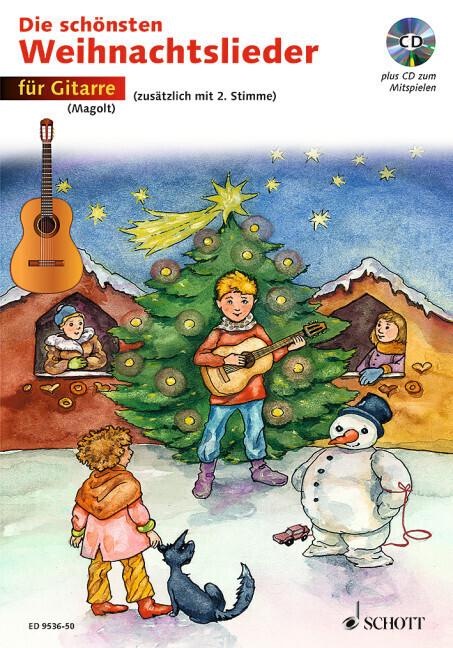 Die schönsten Weihnachtslieder für Gitarre. Mit CD als Buch
