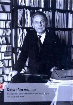 Kaiser-Verzeichnis als Buch von Joachim Kaiser