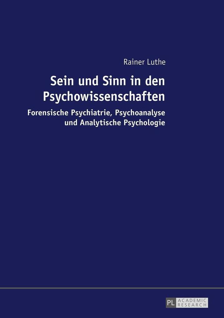 Sein und Sinn in den Psychowissenschaften als B...