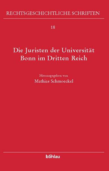 Die Juristen der Universität Bonn im Dritten Reich als Buch