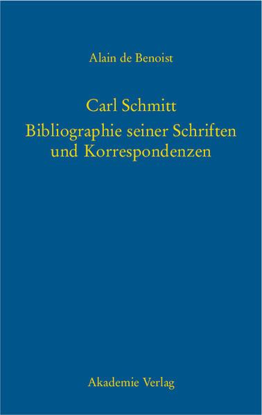 Carl Schmitt als Buch