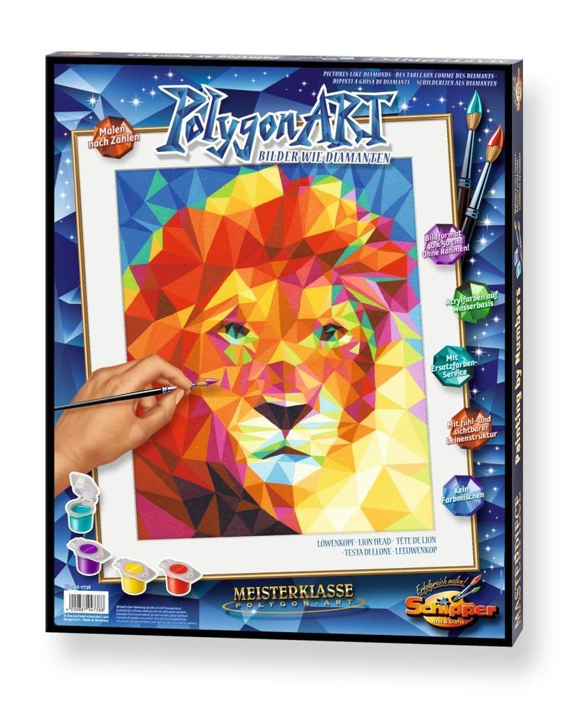 Schipper Malen Nach Zahlen Polygon Art Löwenkopf