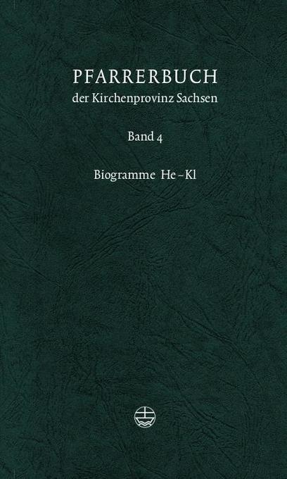 Pfarrerbuch der Kirchenprovinz Sachsen 4 als Buch