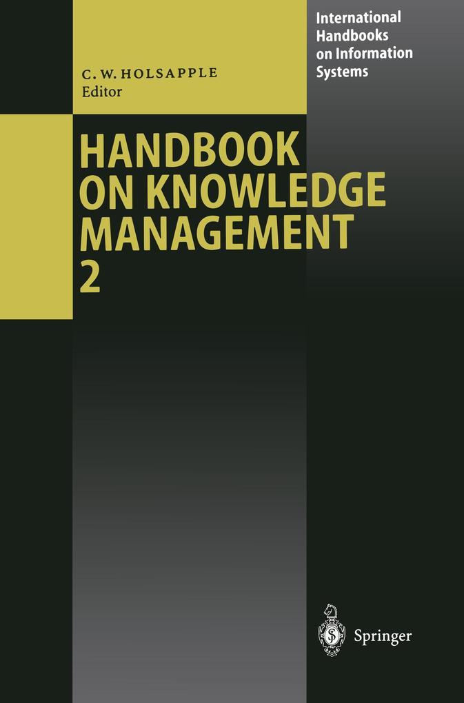Handbook on Knowledge Management 2 als Buch