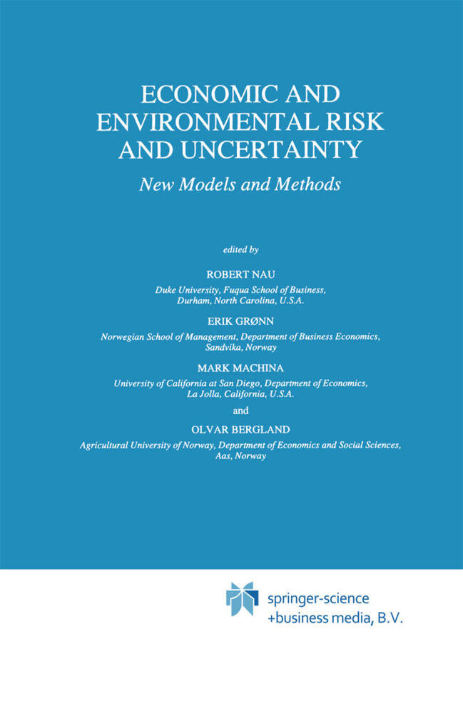 Economic and Environmental Risk and Uncertainty als Buch