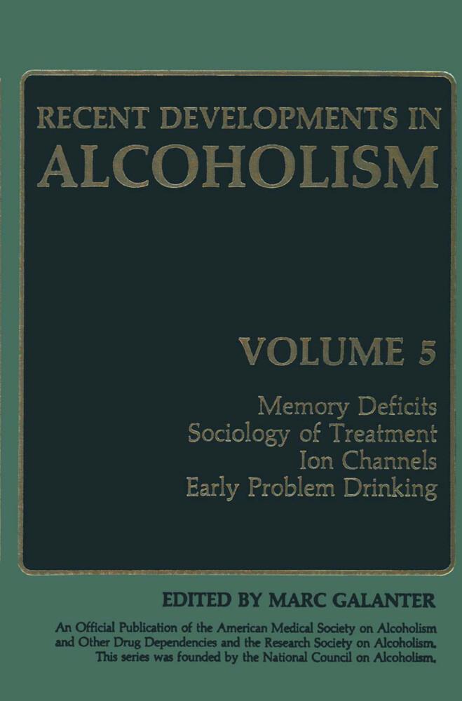 Recent Developments in Alcoholism als Buch