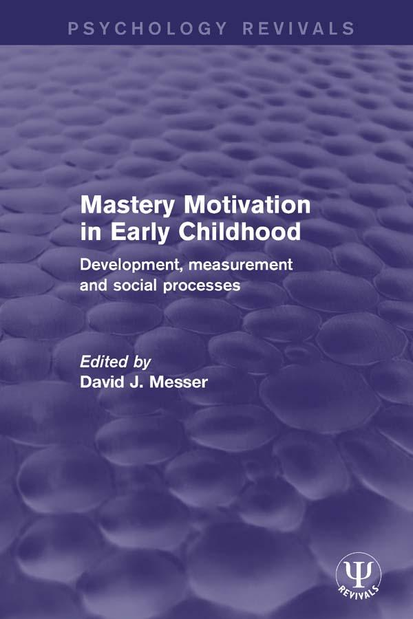 Mastery Motivation in Early Childhood als eBook...