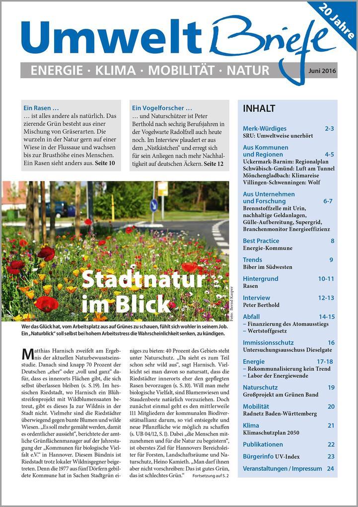 E-Paper Zeitschrift UmweltBriefe Heft Juni 2016...