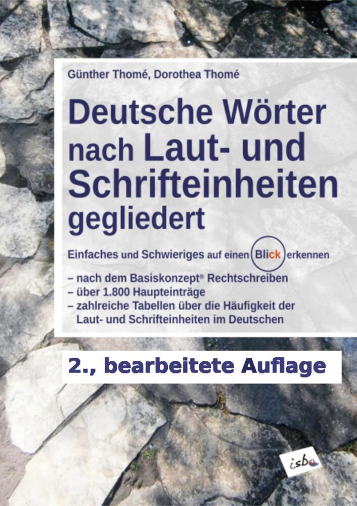 Deutsche Wörter nach Laut- und Schrifteinheiten gegliedert als Buch