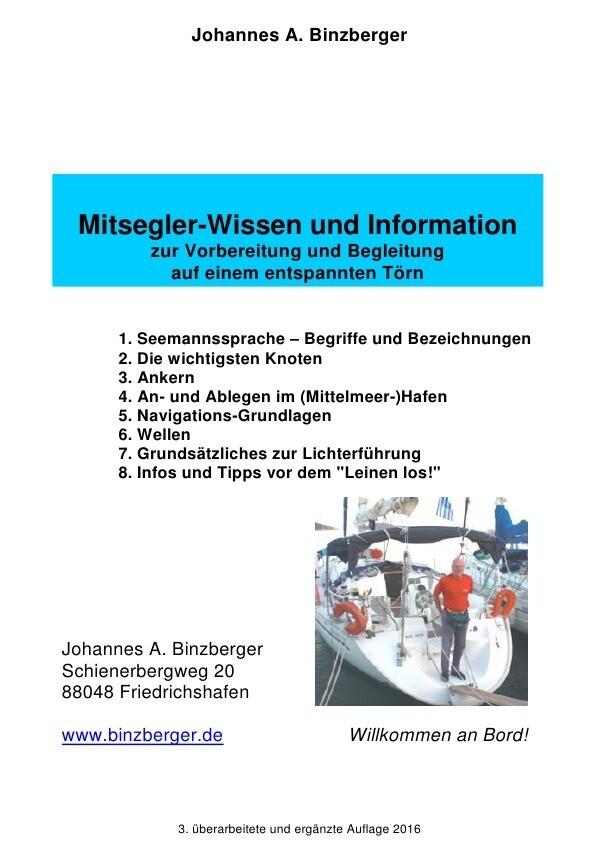 Mitsegler-Wissen und Information als Buch