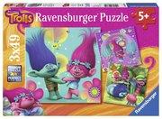 Trolls: Poppys bunte Welt - 3 Puzzles (je 49 Teile) von Ravensburger