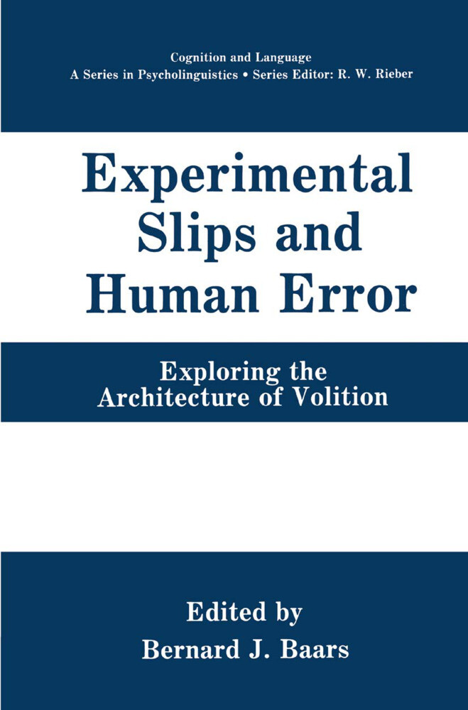 Experimental Slips and Human Error als Buch