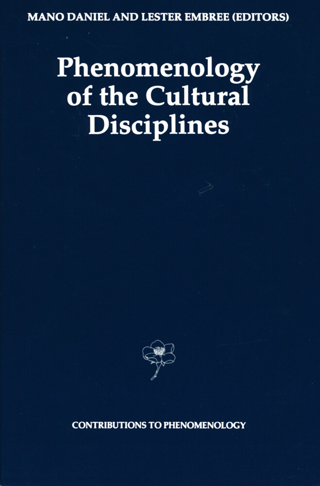 Phenomenology of the Cultural Disciplines als Buch